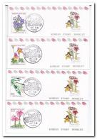 Zuid Korea 1991, Postfris MNH, Flowers ( Booklets, Carnet ) - Korea (Zuid)