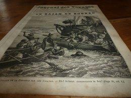 1882 JDV: Gravure --->Attaque De LA CONCORDIA Par Les Pirates;    Gravure ---> Savorgnan De Brazza Avec Les Oubendji;etc - 1850 - 1899