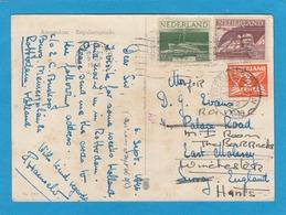 IRRLÄUFER.POSTKARTE VON UTRECHT NACH ENGLAND,1946. - Period 1891-1948 (Wilhelmina)
