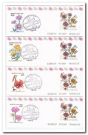 Zuid Korea 1990, Postfris MNH, Flowers ( Booklets, Carnet ) - Korea (Zuid)