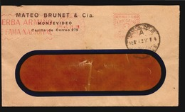 Uruguay Yerba Armiño Red Meter And Advertising Cover Uruguay Ca1930 (A_4278) - Other