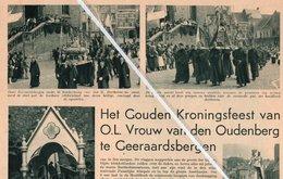 GERAARDSBERGEN..1937.. HET GOUDEN KRONINGSFEEST VAN O.L. VROUW VAN DEN OUDENBERG - Vieux Papiers