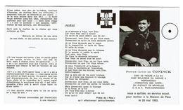 Souvenir Pieux - Pierre-Louis De CONINCK - Chef De Troupe à La 51è - C.S.O.R. Para-Commando / 1963 - Scoutisme - Scoutisme