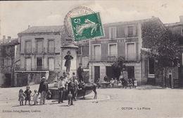 OCTON  La PLACE   ( Plan Animé Devant Le Gd CAFE ) - Frankreich