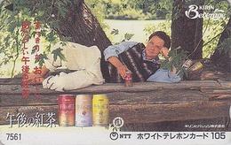 Télécarte Japon / 7-11 - 7561 - Film Cinéma - MICHAEL J. FOX - Pub BIERE KIRIN BEER - Japan Movie Star Phonecard - 830 - Publicité