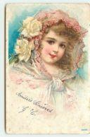 N°13095 - Portrait D'une Fillette Portant Un Voile Et Des Roses - Autres