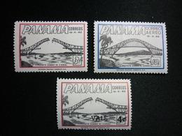 Panama, 1962 Bridge Of The Americas During Construction Scott #442/445B/C273 MNH CV 0,75USD - Panama