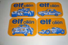 4 Stickers - Autocollants Elf Oliën ( Formule Renault, Elf Tyrrel Formule 1,... ) - Automobile - F1