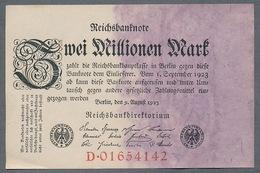 Pick104 Ro103a DEU-115a. 2 Million Mark 1923 AUNC - [ 3] 1918-1933 : Repubblica  Di Weimar