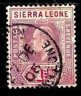 SIERRA LEONE 63° 1p Violet-brun Et Carmin Edouard VII (10% De La Cote + 0,15) - Sierra Leone (...-1960)