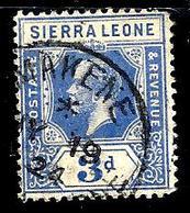 SIERRA LEONE 113° 3p Outremer George V (10% De La Cote + 0,15) - Sierra Leone (...-1960)