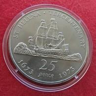 St Helena  25 Pence 1973 Sail Ship - Sint-Helena
