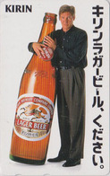 RARE TC Japon / 110-011 - Alcool - BIERE KIRIN & Star Cinema HARRISON FORD - BEER & Movie Star Japan Phonecard - 835 - Publicité