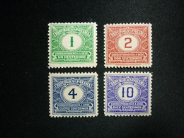 Panama, 1930 Postage Due Stamps Scott #J5-J8 MNH CV 5.20USD - Panama