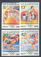 Bulgaria 1988 Mi 3679-3682 MNH ( ZE2 BUL3679-3682 ) - Gymnastics