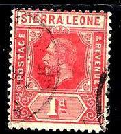 SIERRA LEONE 90° 1p Rouge George V (10% De La Cote + 0,15) - Sierra Leone (...-1960)