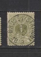 COB 42 Oblitération Centrale BRUGES Station - 1869-1888 Lying Lion
