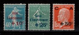 YV 246 à 248 N** 1ere Caisse D'Amortissement Cote 70 Euros - France