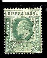 SIERRA LEONE 75° 1/2p Vert Edouard VII (10% De La Cote + 0,15) - Sierra Leone (...-1960)