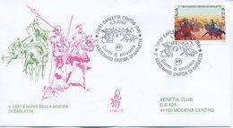 ITALIA - FDC  VENETIA 2003 - LA DISFIDA DI BARLETTA  - ANNULLO SPECIALE - VIAGGIATA - FDC