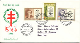 Finland FDC 26-9-1979 Complete Set TUBERCULOSE Stamps With Cachet - FDC