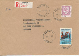 Finland Registered Cover Sent To Denmark Vantaa 22-12-1980 - Lettres & Documents