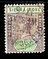 SIERRA LEONE 31° 1/2p Violet-brun Et Vert Victoria (10% De La Cote + 0,15) - Sierra Leone (...-1960)
