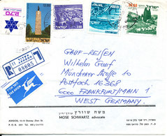 Israel Registered Air Mail Cover Sent To Germany 8-3-1980 - Airmail