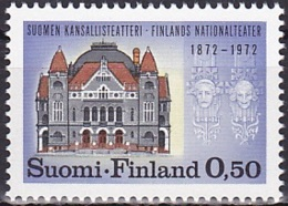 Finland/1972 - Finnish National Theatre/Suomen Kansallisteatteri  - 0.50 Mk - MNH - Unused Stamps