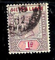 SIERRA LEONE 32° 1p Violet-brun Et Carmin Victoria (10% De La Cote + 0,15) - Sierra Leone (...-1960)