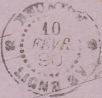 Colonies Française / Réunion 1890. Entier Postal De Saint Paul à Saint Pierre - Réunion (1852-1975)