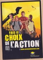 CP -  FILM - FAIS LE CHOIX DE L ACTION - Advertising