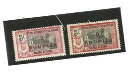 76 Et 78  Timbres Surchargés   Trace De Charniéres (pag7) - Indien (1892-1954)