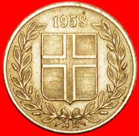 + GREAT BRITAIN BIRCH (1946-1967): ICELAND ★ 25 ORE 1958 INTERESTING YEAR! LOW START ★ NO RESERVE! - Islandia