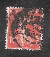 Perforé/perfin/lochung France No 138 D.B. De Dion Bouton - Perfins