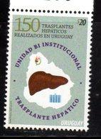 URUGUAY, 2018, MNH, MEDICINE, LIVER TRANSPLANTS, 150 LIVER TRANSPLANTS PERFORMED IN URUGUAY,1v - Tortugas