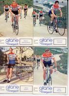 1970/75 CYCLISME TOUR FRANCE LOT 4 CARTES COUREURS CYCLISTES GITANE CAMPAGNOLO - Cyclisme