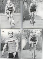1970/75 CYCLISME TOUR FRANCE LOT 4 CARTES COUREURS CYCLISTES ROKADO - Cyclisme