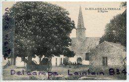 - ST HILAIRE LA TREILLE - ( Vienne ), L'Eglise, Charrettes, Animation, écrite, Coins Impeccables, TTBE, Scans. - France