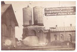 Romania Focsani Gara Bahnhof 1927 Restored Water Tower At The Station - Train Station - Rumania