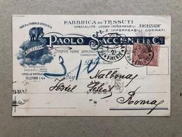 PRATO FABBRICA DI TESSUTI PAOLO SACCENTI & C.  1915 - Prato