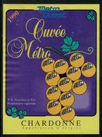 Etiquette De Vin // Chardonne, La Cuvée Du Métro Ouest Lausannois - Treni