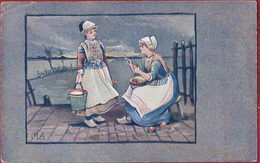 Fantaisie Carte Fantasie Fleurs Folklore Costumes The Artistic Series Nr 184 W. McKenzie & Co London 1905 Holland - Costumes