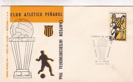 1968 URUGUAY FDC COVER- CLUB ATLETICO PEÑAROL- BLEUP - Famous Clubs