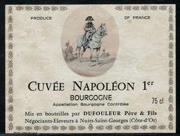 Etiquette De Vin // Bourgogne, Cuvée Napoléon 1er - Imperatori, Re, Regine E Principi
