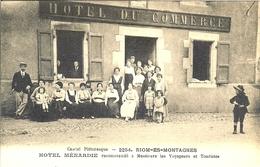 15 RIOM ES MONTAGNES HOTEL MENARDIE RECOMMANDE A MESSIEURS LES VOYAGEURS ET TOURISTES - Otros Municipios