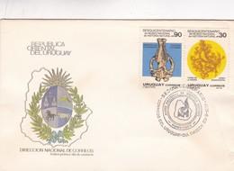 1988 URUGUAY FDC COVER- SESQUICENTENARIO DEL MUSEO NACIONAL DE HISTORIA NATURAL-BLEUP - Uruguay