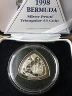 Bermuda 3 $ 1998 Sail Ship Triangular Coin - Bermuda