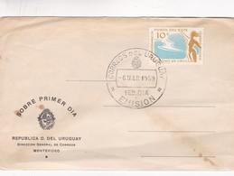 1959 URUGUAY FDC COVER- CINCUENTENARIO DE PUNTA DEL ESTE-BLEUP - Uruguay