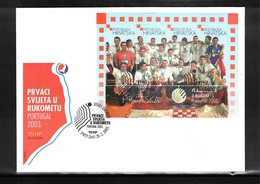 Kroatien / Croatia 2003 Croatia World Handball Champion Block FDC - Hand-Ball